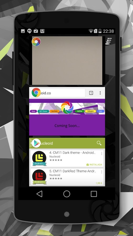 Lollipop 5.0 Dark Theme- screenshot