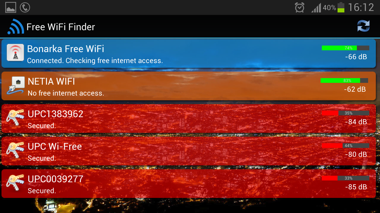 Free WiFi Internet Finder - screenshot