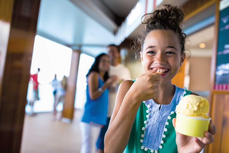 Treat yourself or your kids to a frozen Italian dessert at Dolce Gelato on deck 8 of Norwegian Breakaway.