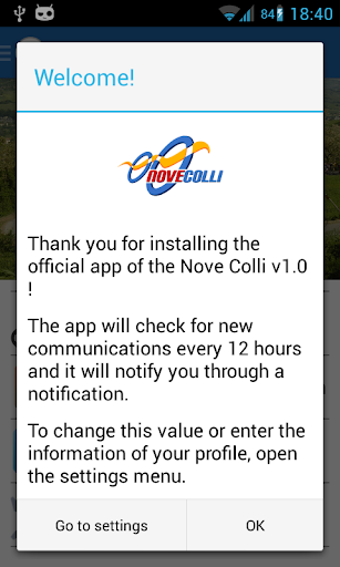 Nove Colli Official App