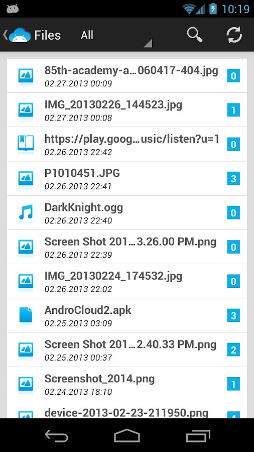 AndroCloud- screenshot