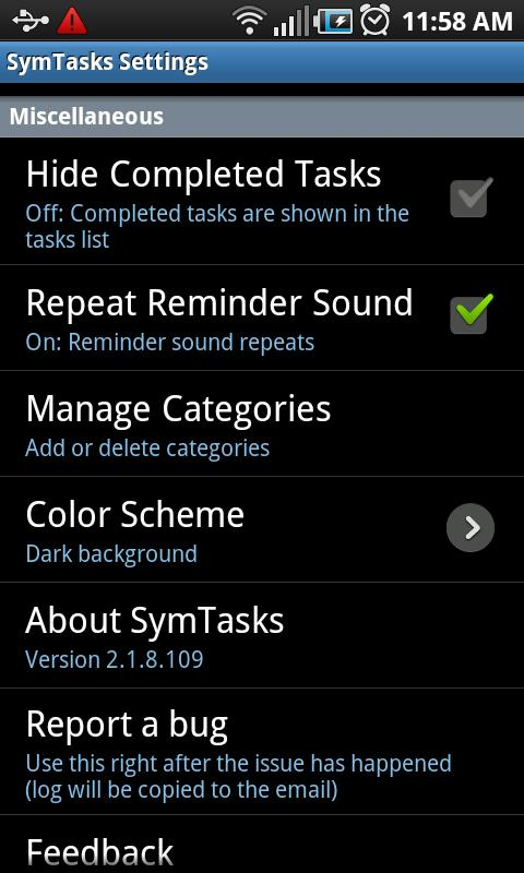 SymTasks - Outlook Tasks Sync - screenshot