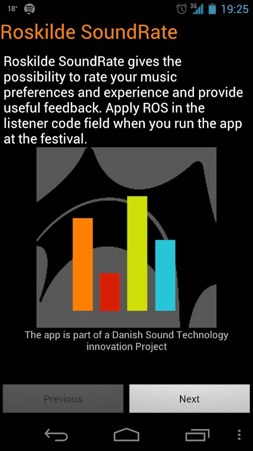 Roskilde SoundRate - screenshot