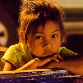 Laos charm by Franco Beccari - Babies & Children Child Portraits ( laos, girl, cute, portrait, eyes,  )