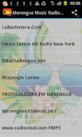Screenshot of Merengue Music Radio Stations