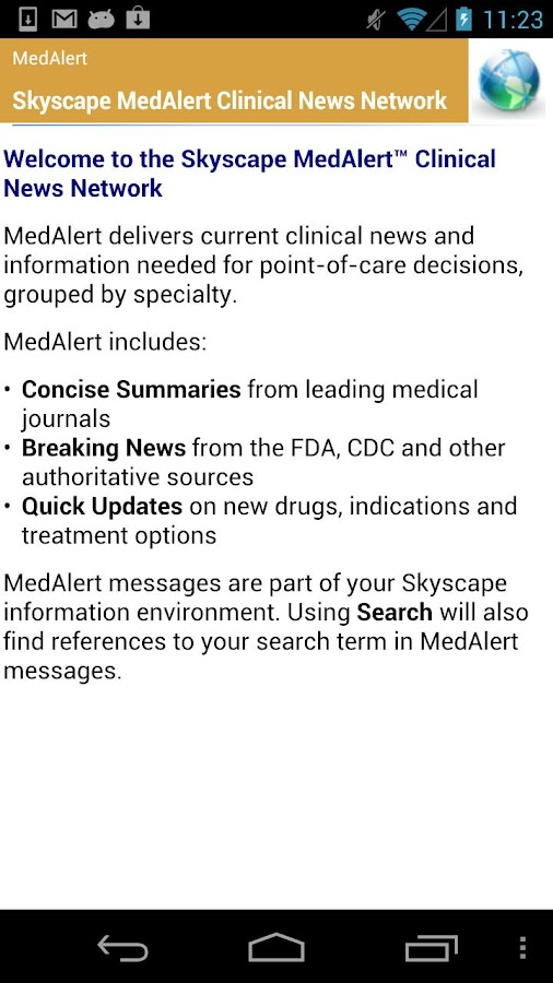 Skyscape Medical Resources - screenshot