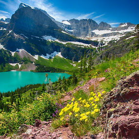 Glacier National Park by Jim Kuhn - Landscapes Mountains & Hills ( glacier, mountain, grinnell, lake, glacier national park )