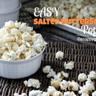 Easy Salted Butterscotch Popcorn.