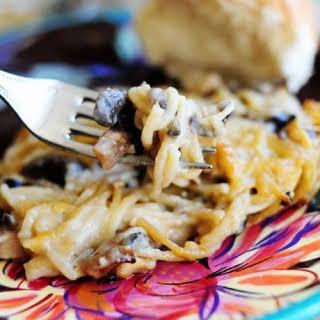 Creamy Chicken Spaghetti Casserole.