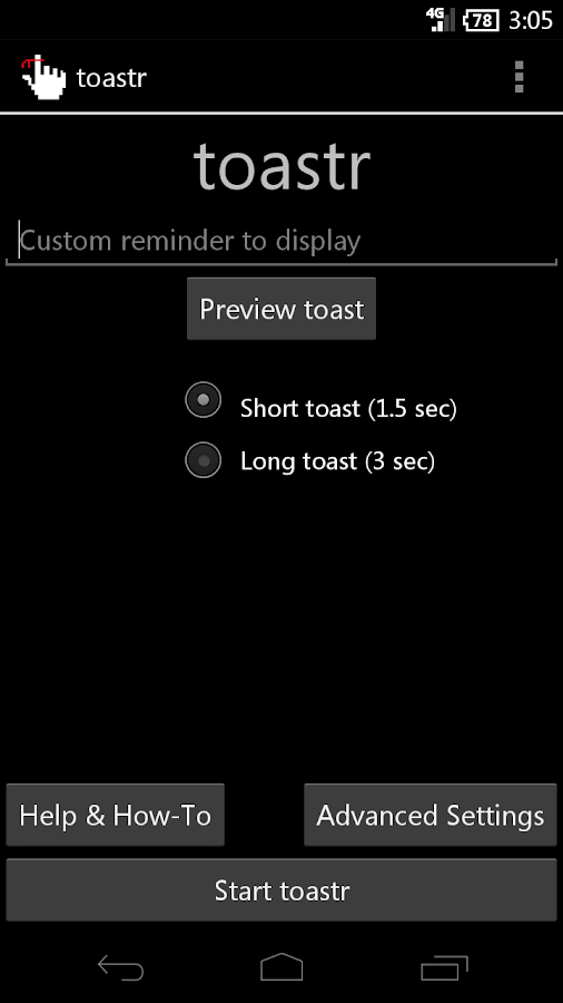 toastr - The Ultimate Reminder - screenshot