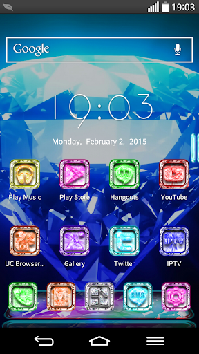 Next Launcher Theme CrystalM