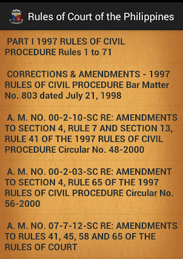 Philippines Rules of Court