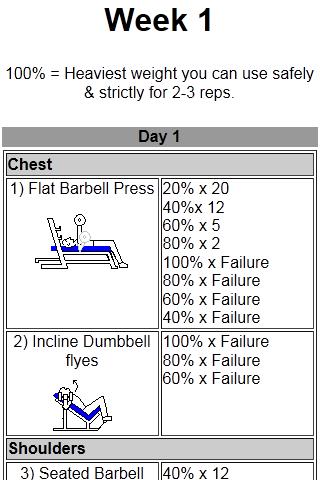 Intermediate Workout- screenshot