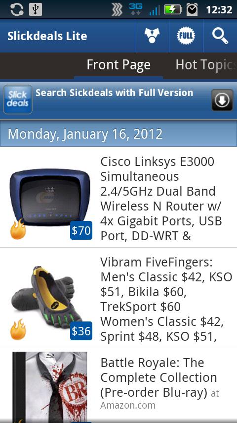 SlickDeals Reader Lite - screenshot