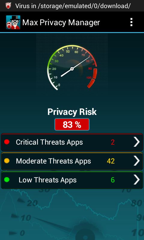 Max Privacy Manager- screenshot