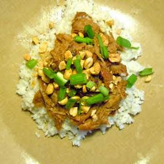 Slow Cooker Thai Pork with Rice.