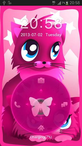 Pink cat theme 4 GO Locker Buy