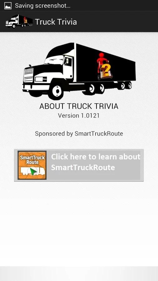 Truck Trivia for better routes- screenshot