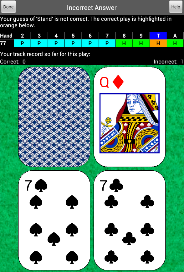 Blackjack Mentor- screenshot
