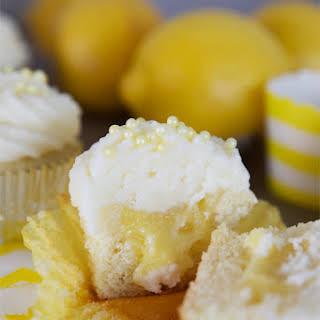 Lemon Curd Filled Cupcakes.