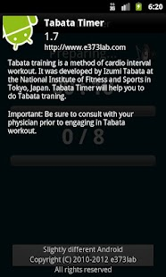 Tabata timer- screenshot thumbnail