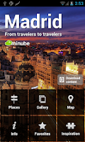 Screenshot of Madrid City Travel Guide Map
