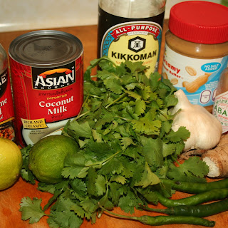 Thai Peanut Sauce Fondue.