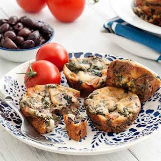 Gluten Free Greek Mini Quiches.