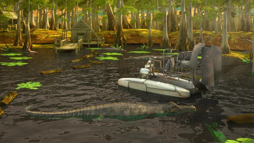 Swamp Boat Parking Driving