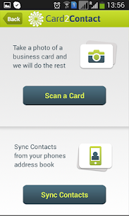 Card2Contact- screenshot thumbnail