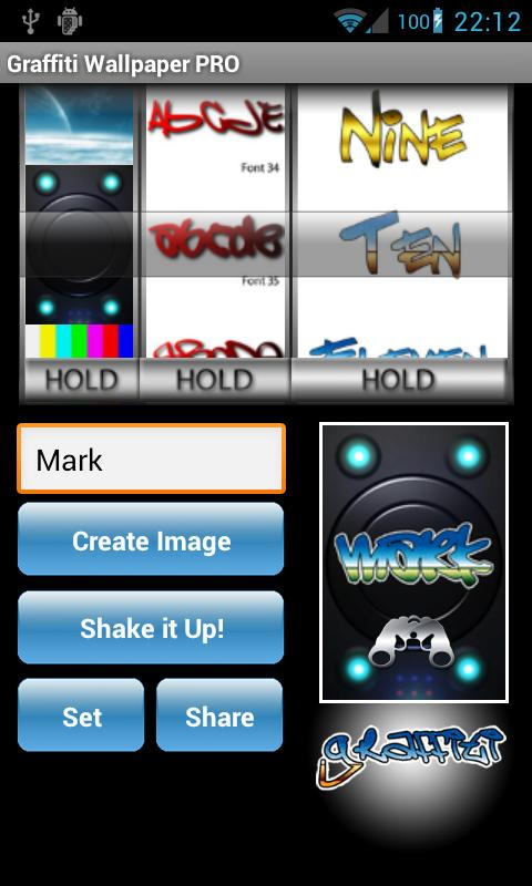 Graffiti Wallpaper Maker PRO - screenshot