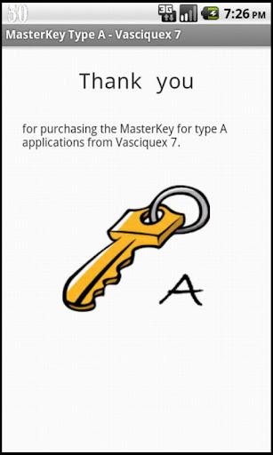 MasterKey Type A - Vasciquex 7