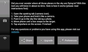 Screenshot of Radar Spotter