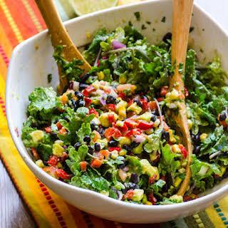Healthy Creamy Mexican Kale Salad.