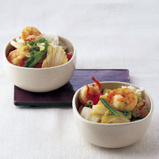 Shrimp with Napa Cabbage and Ginger.