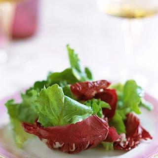 Chicory Salad with Lemon Anchovy Vinaigrette