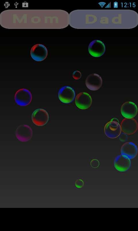 Touch Bubbles! for baby/infant - screenshot