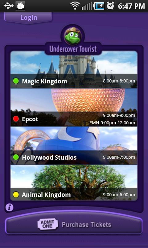 Disney World Wait Times - screenshot
