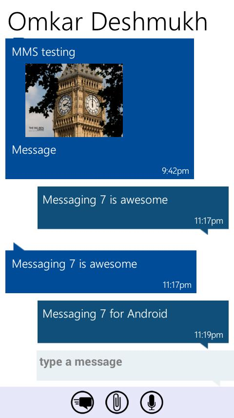 Messaging 7 - screenshot