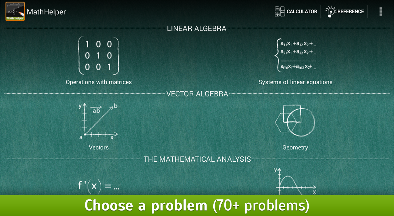 MathHelper: Algebra & Calculus - screenshot