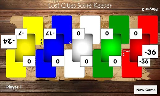 Lost Cities Score Keeper