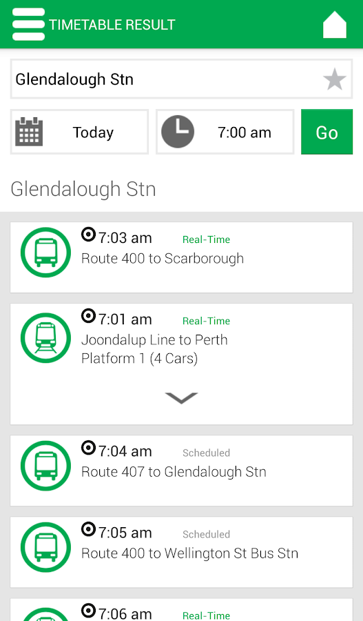 Transperth- screenshot