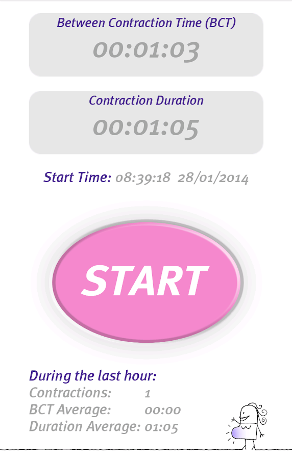 Professional Contraction Timer- screenshot