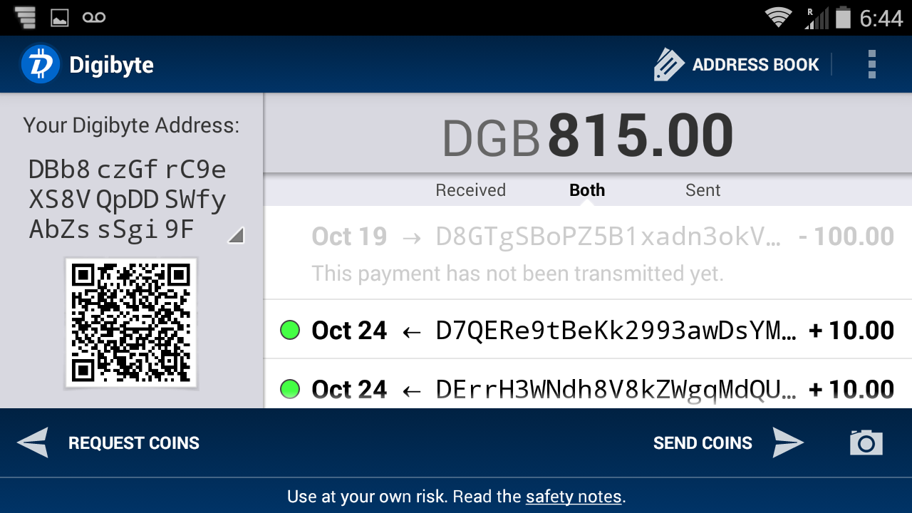 DigiByte Wallet- screenshot