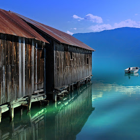 by Bente Agerup - Buildings & Architecture Decaying & Abandoned ( solvorn, boats, buildings, fjords, norway )