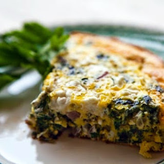 Spinach, Feta, and Tarragon Frittata