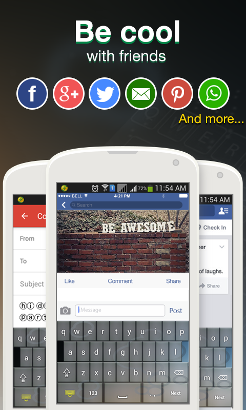 Cool Fonts for Whatsapp & SMS- screenshot