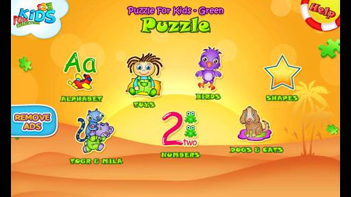 123 Kids Fun PUZZLE GREEN Free