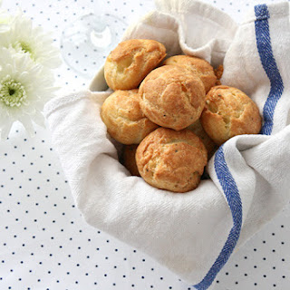 Blue Cheese Gougeres.