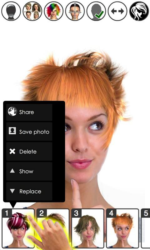 Magic Mirror, Hair styler - screenshot